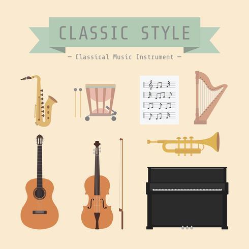 instrument de musique classique vecteur