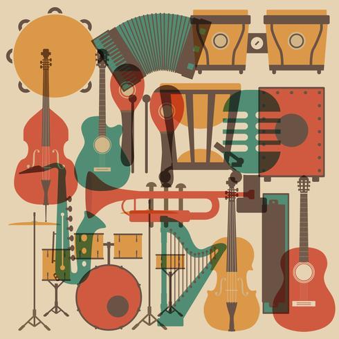 musique classique abstraite vecteur