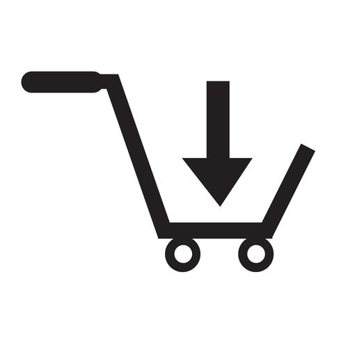 acheter shopping cart icône symbole Illustration design vecteur