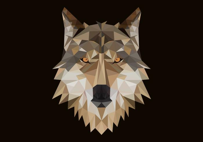 illustration vectorielle de tête de loup polygonale vecteur