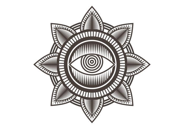 illustration vectorielle d'un œil mandala design vecteur