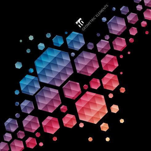 Motif coloré abstrait hexagone géométrique vecteur