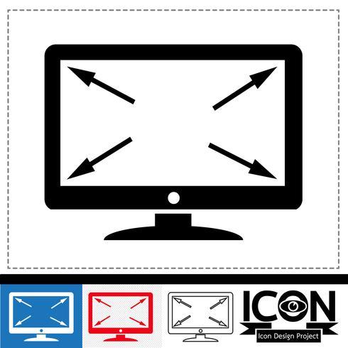 signe de symbole icône tv vecteur