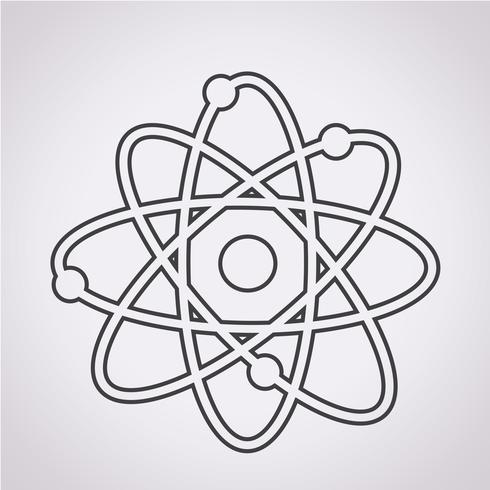 signe de symbole icône atome vecteur