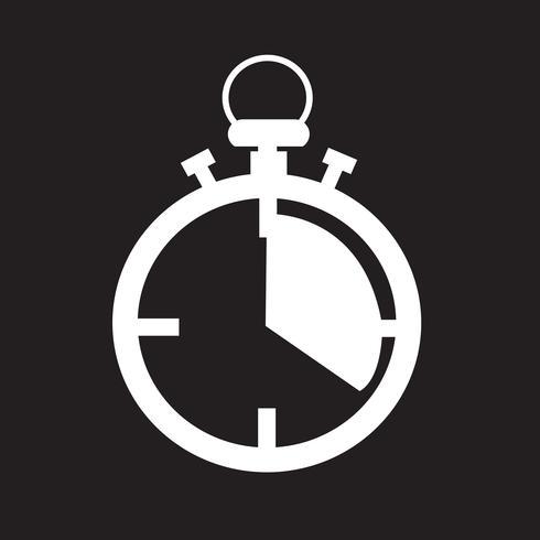 signe de symbole icône chronomètre vecteur