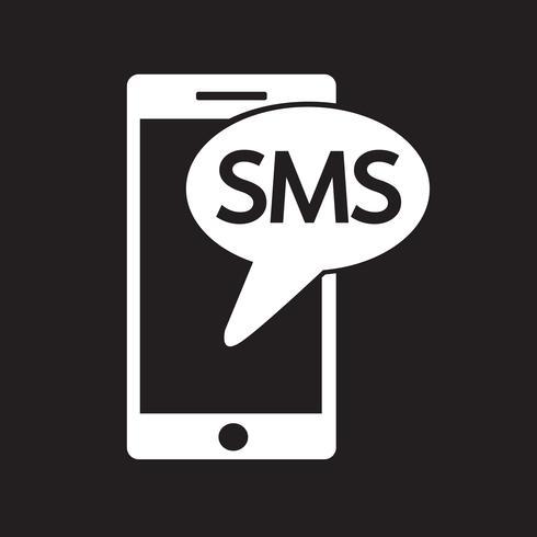symbole symbole icône sms vecteur