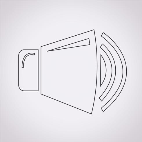 haut-parleur icône symbole signe vecteur