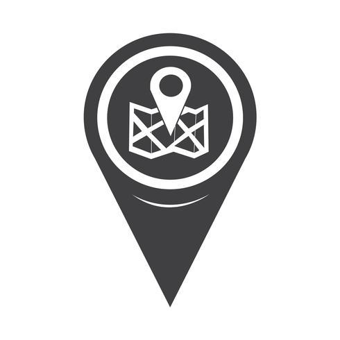 Icône de localisation de pointeur de carte vecteur