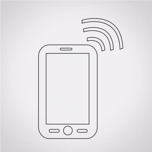Symbole de téléphone icône vecteur