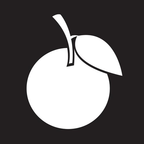 signe de symbole icône orange vecteur