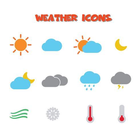 symbole d'icônes météo vecteur