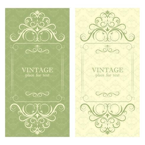 Invitation. Cadre de beau design vintage pour votre texte. vecteur