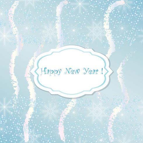 Carte de nouvel an. Abstrait fête de Noël. vecteur