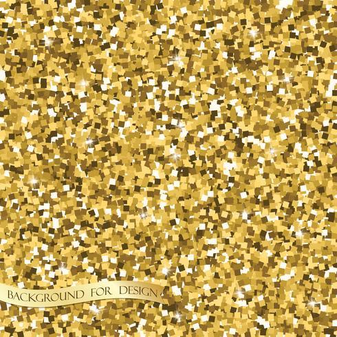 Texture de paillettes d'or. Fond pour votre conception. Vecteur
