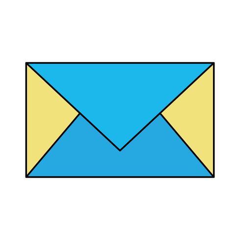 lettre de couleur carte fermée avec informations de message vecteur