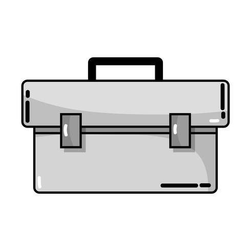 équipement de boîte à outils en niveaux de gris pour réparer la construction vecteur