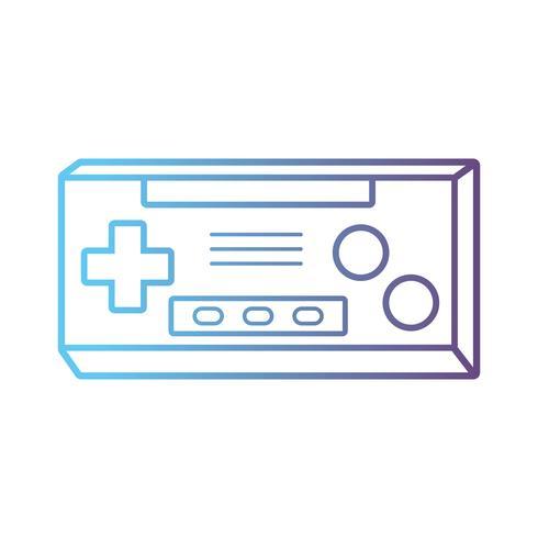 ligne technologie de console de jeu vidéo électronique vecteur