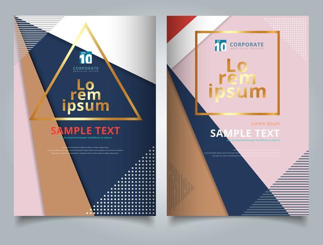 Triangles géométriques abstraites avec motif de cercles et de lignes multicolore pour Tempalte Brochure vecteur