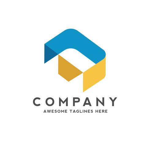 lettre d création de logo style isométrique coloré vecteur