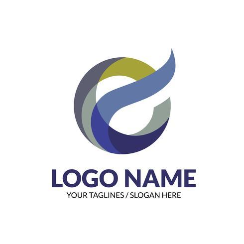 concept créatif moderne élégant logo E logo, vecteur