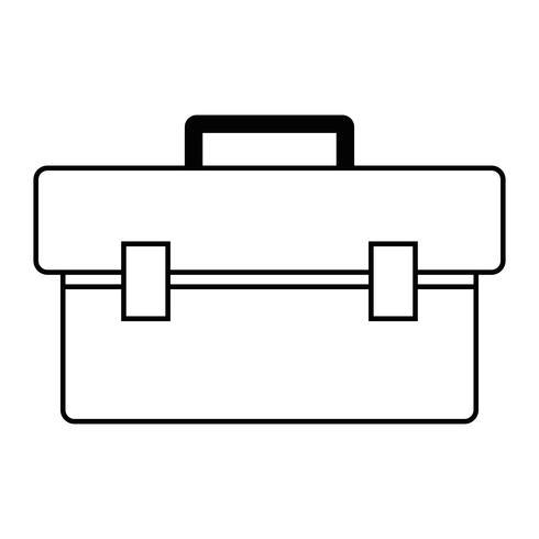 équipement de boîte en ligne pour réparer la construction vecteur