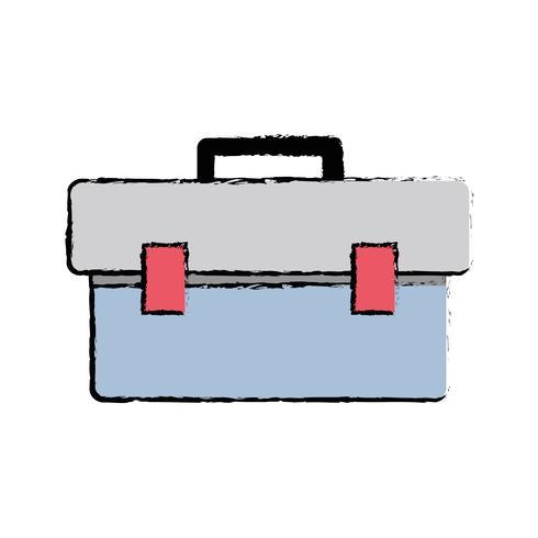 équipement de boîte à outils pour réparer les travaux de construction vecteur