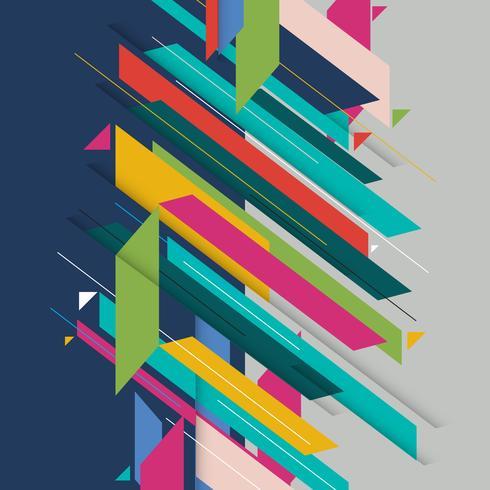 Élément géométrique abstrait mmoderne forme diagonale. vecteur