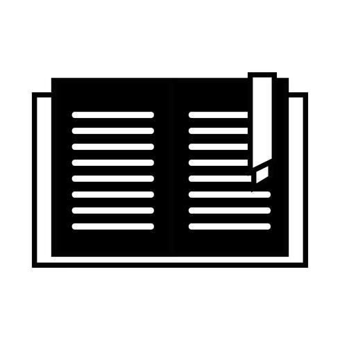 contour livre livre objet pour apprendre et étudier vecteur