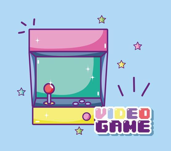 Console d'arcade rétro vecteur