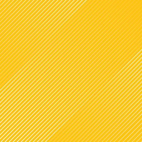 Motif de lignes rayées blanches abstraites texture en diagonale sur fond de couleur jaune. vecteur