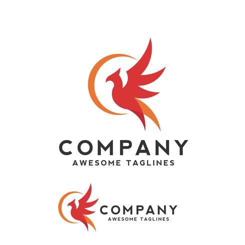 concept de logo oiseau phoenix vecteur