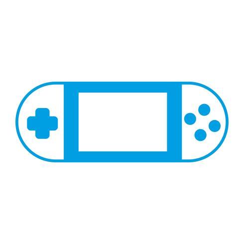 icône de jeu vidéo portable vecteur