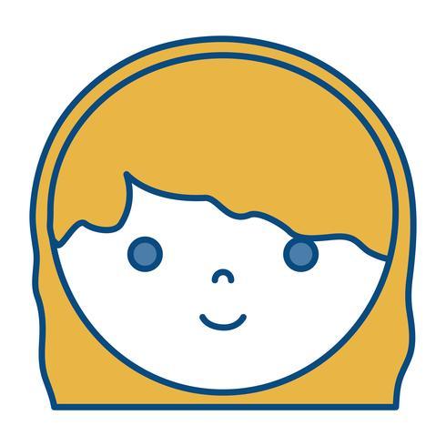 icône de femme dessin animé vecteur