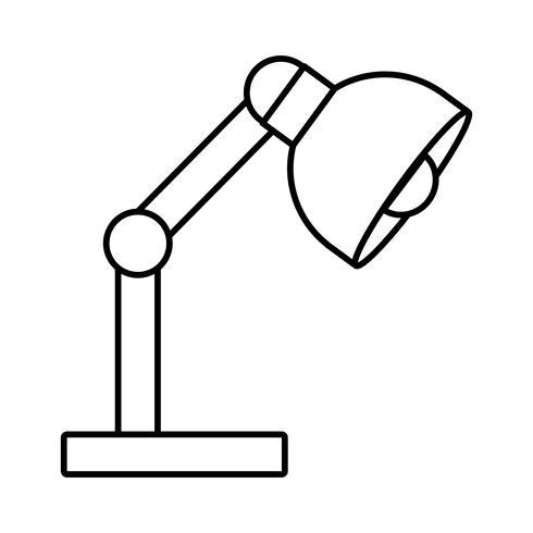 icône de lampe de bureau vecteur
