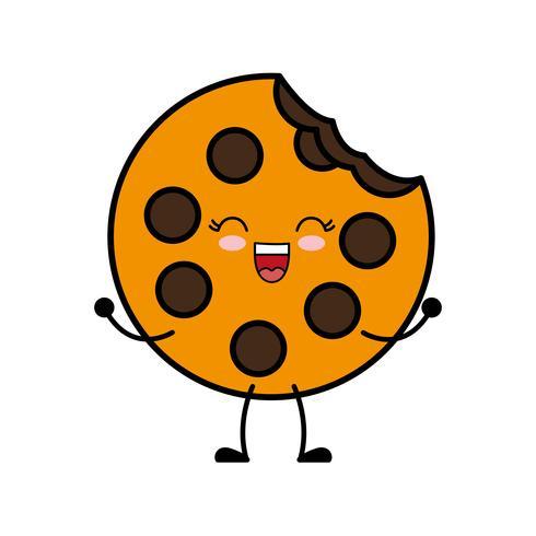 image d'icône de cookie vecteur