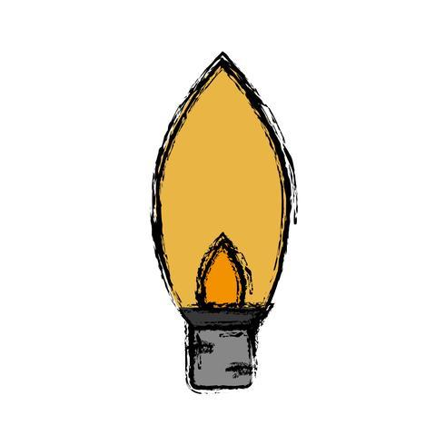 icône d'ampoule vecteur
