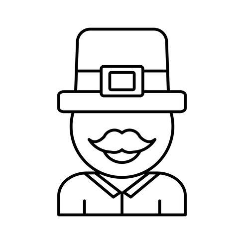 conception de chapeau irlandais vecteur