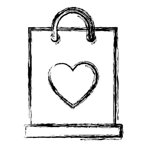 icône de sac à provisions vecteur