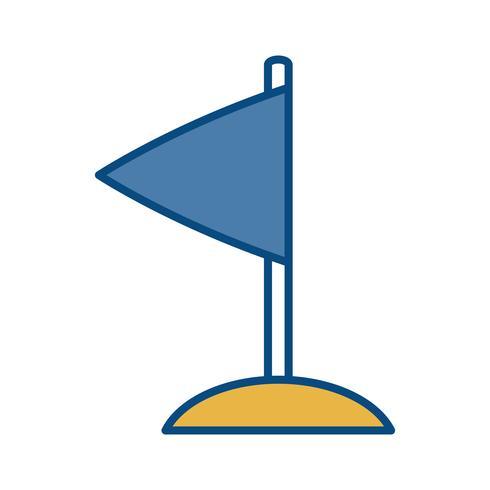 image d'icône de drapeau vecteur