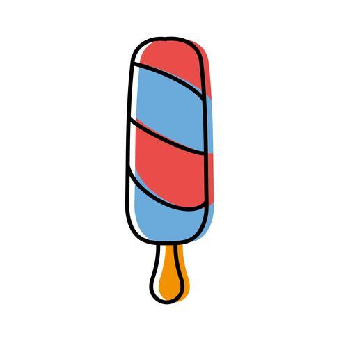 icône de la crème glacée vecteur