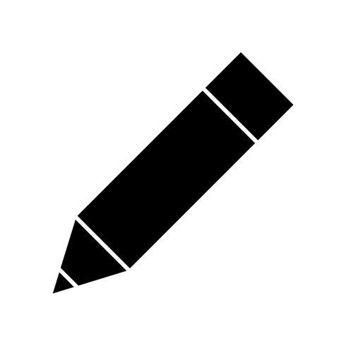 icône d'ustensile de crayon vecteur
