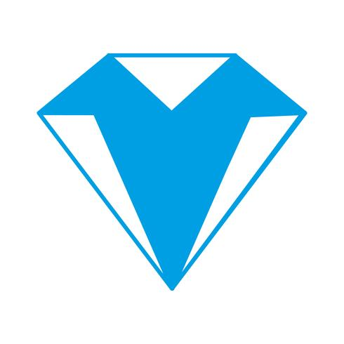 image d'icône de diamant vecteur