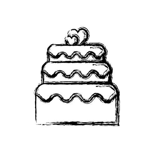 icône de gâteau sucré vecteur