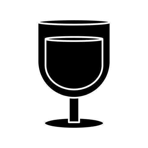 boire un verre icône vecteur