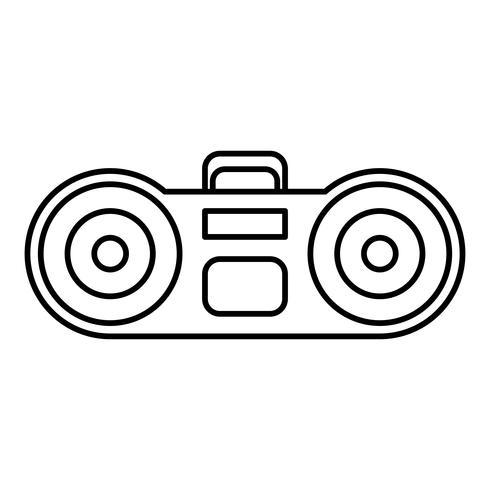 icône du système stéréo boombox vecteur