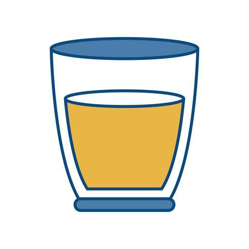 icône de verre de jus vecteur
