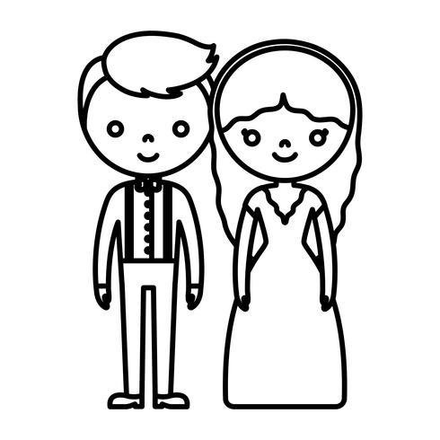 icône de couple de mariage vecteur