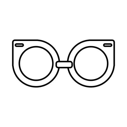 icône accessoire de lunettes vecteur