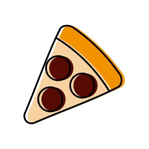 image d'icône de pizza vecteur