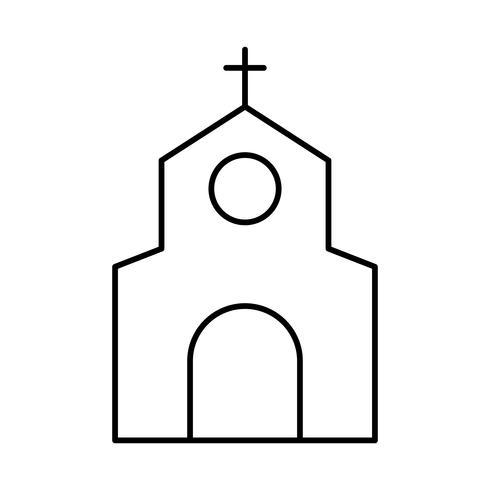 icône de bâtiment d'église vecteur